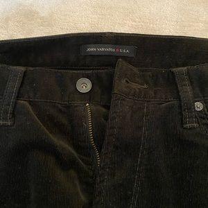 Black John Varvatos Bowery 5 pocket Corduroy Pants